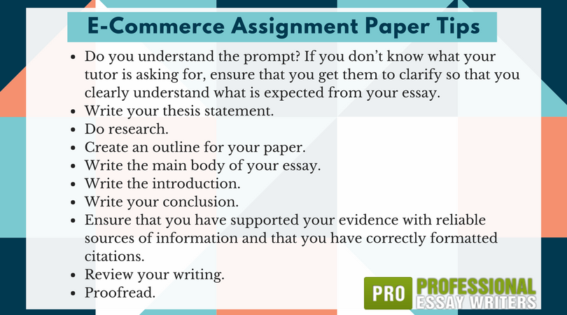 e-commerce assignment paper tips