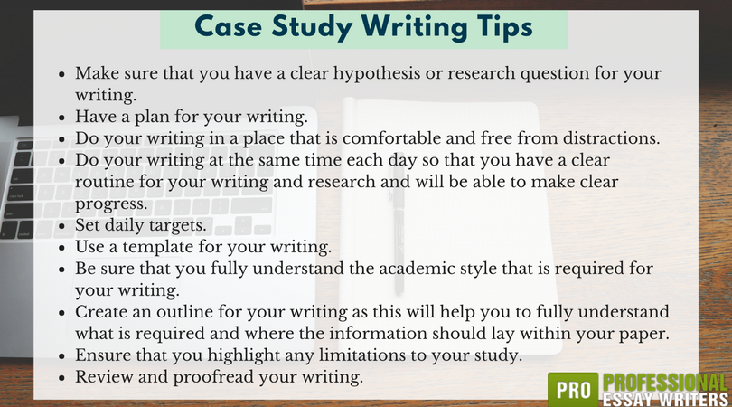 tips for writing a medical case study